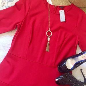 NWT Ann Taylor Red Seasonless Stretch Dress